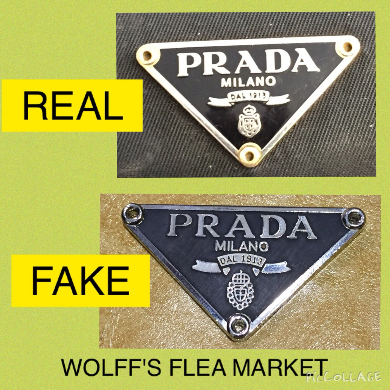 Real vs. Fake Prada tag | Counterfeit Education: The Bad