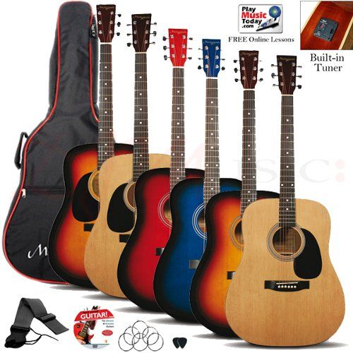 Martin Smith W 500 Acoustic Guitar Pack Guitar Acoustic Guitar Acoustic