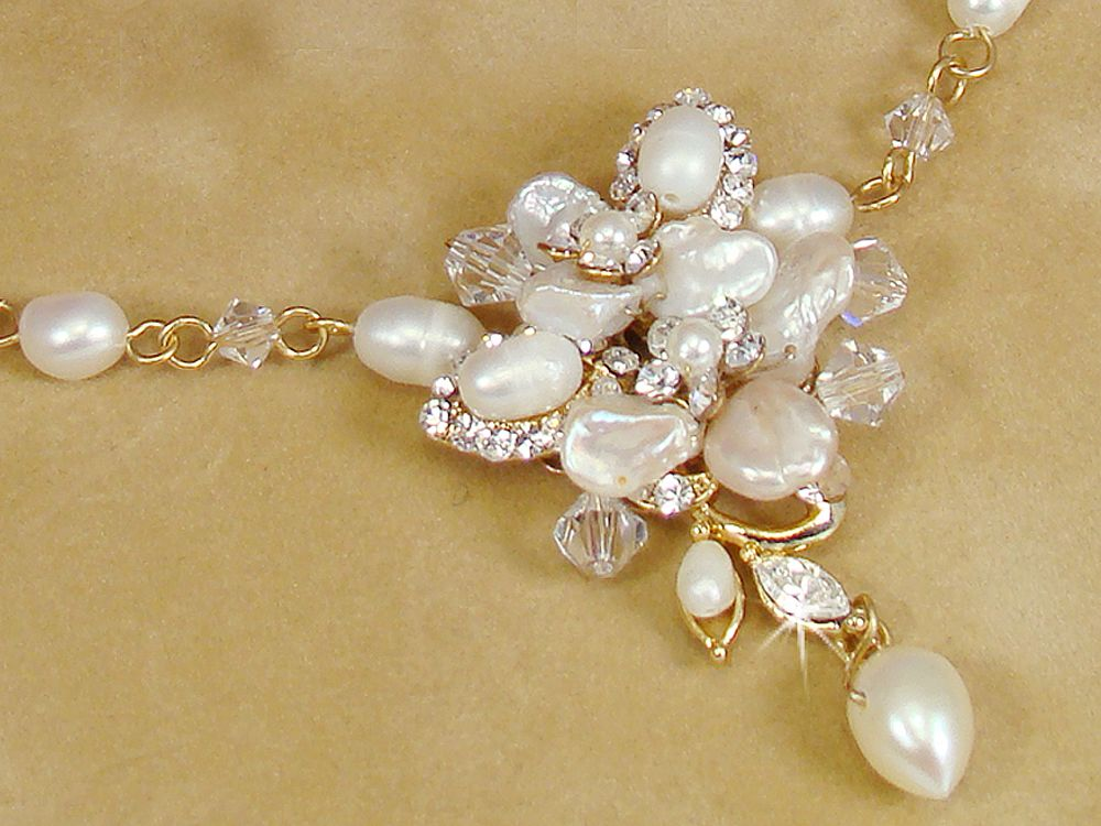 Bridal Jewelry Set Freshwater Pearl Bridal Jewelry Set Bridal
