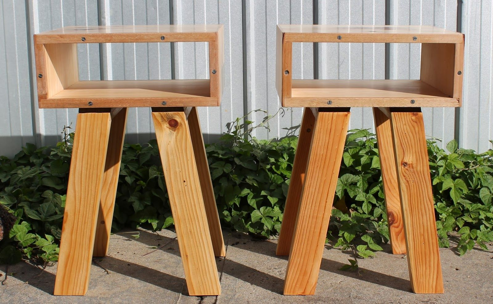mymakersgrain: 'twin speaks 2'   retro styled bedside tables (sol...