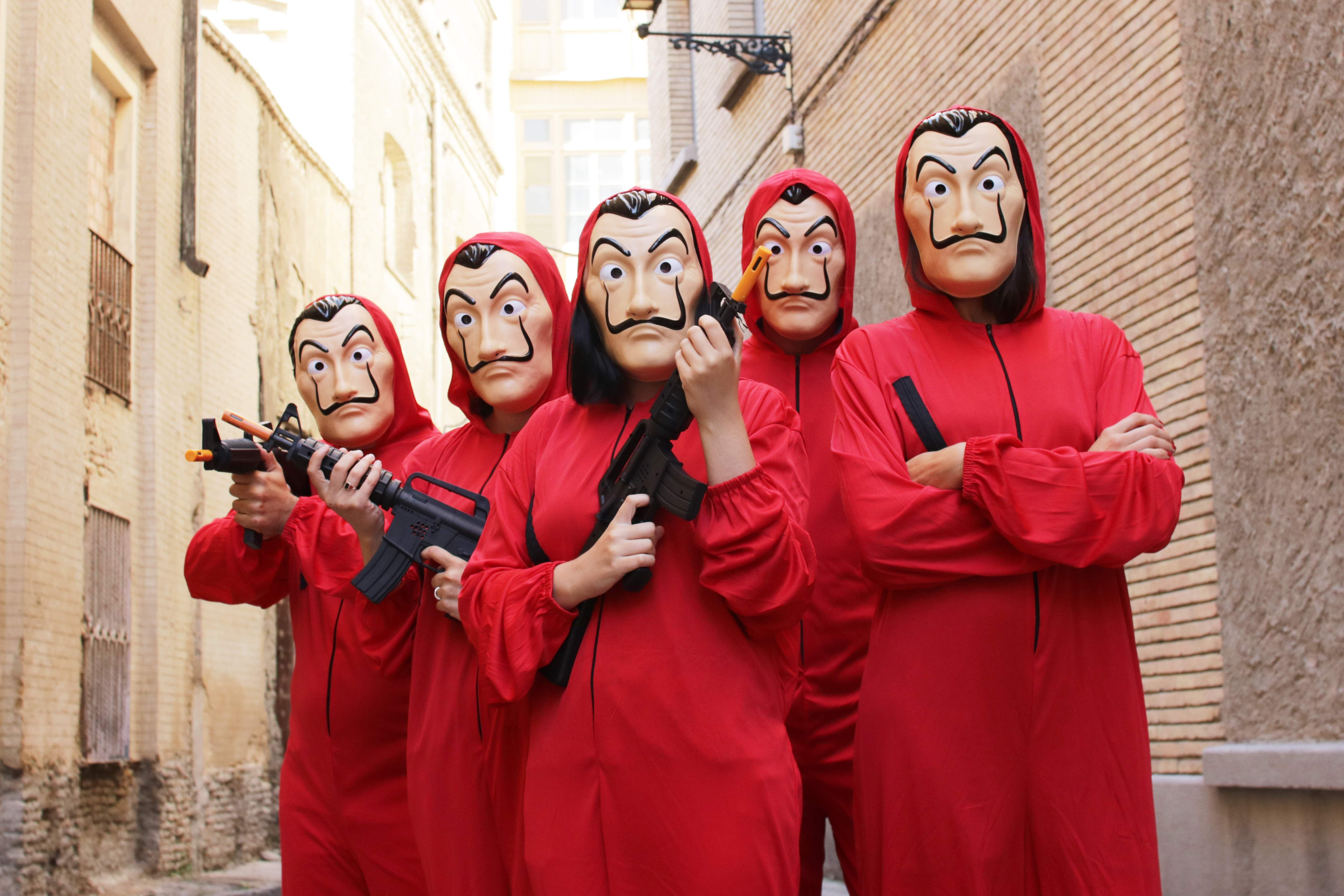 Funidelia money heist costumes from funidelia. available for worldwide