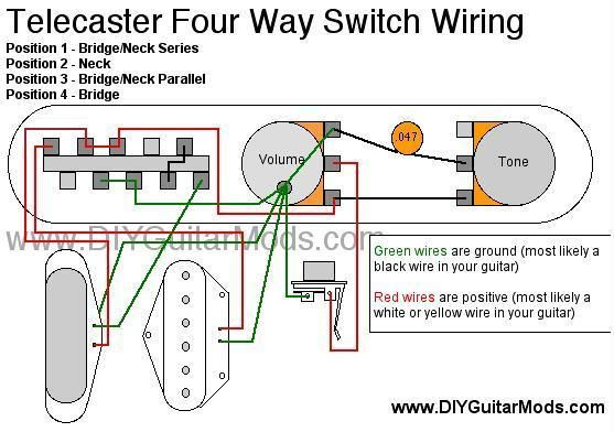 Telecaster Four Way Wiring Diagram Adds Series Telecaster Guitar Diy Diagram