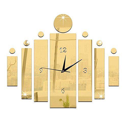 Happy Hours Creative Wall Clocks Home DIY Decoration Watch Acrylic ...