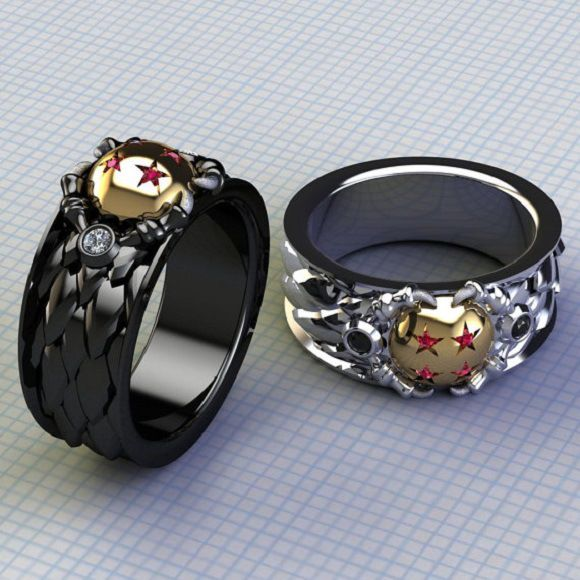mens dragon ball rings Anime related Pinterest Dragon ball