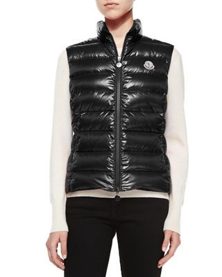 Moncler Ghany Shiny Quilted Puffer Vest   Products in 2019   Puffer ... 65ef3e26066