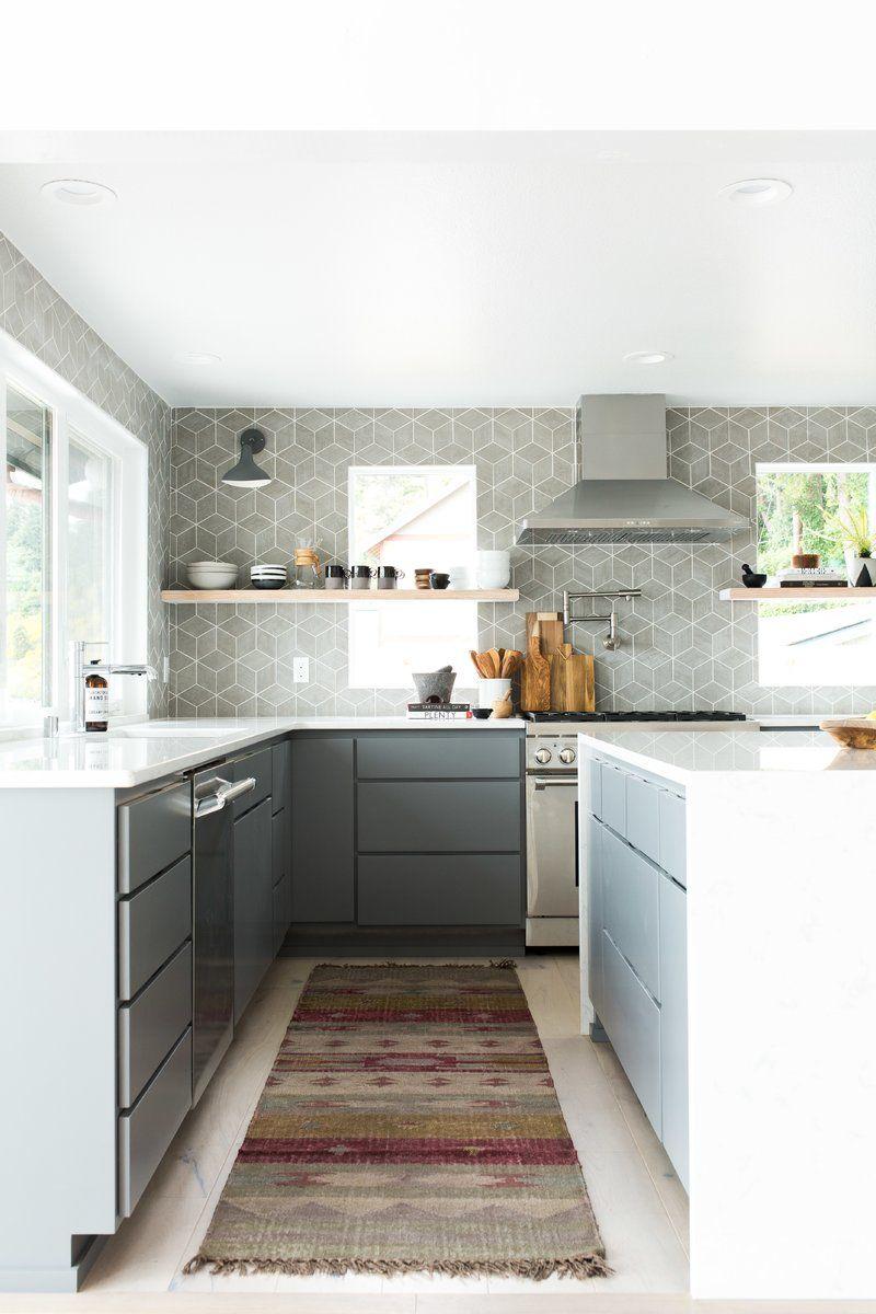 "Karra 4"" x 4"" Porcelain Stone Look Wall & Floor Tile  Modern"