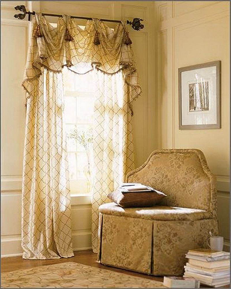 Living rooms living room window curtain designs living for Window valances for bedroom