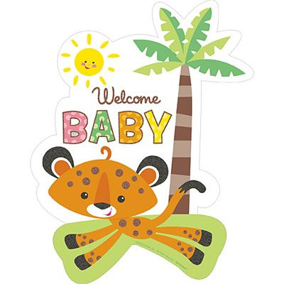 Fisher Price Rainforest Cutout: Rainforest Baby Shower Decorations