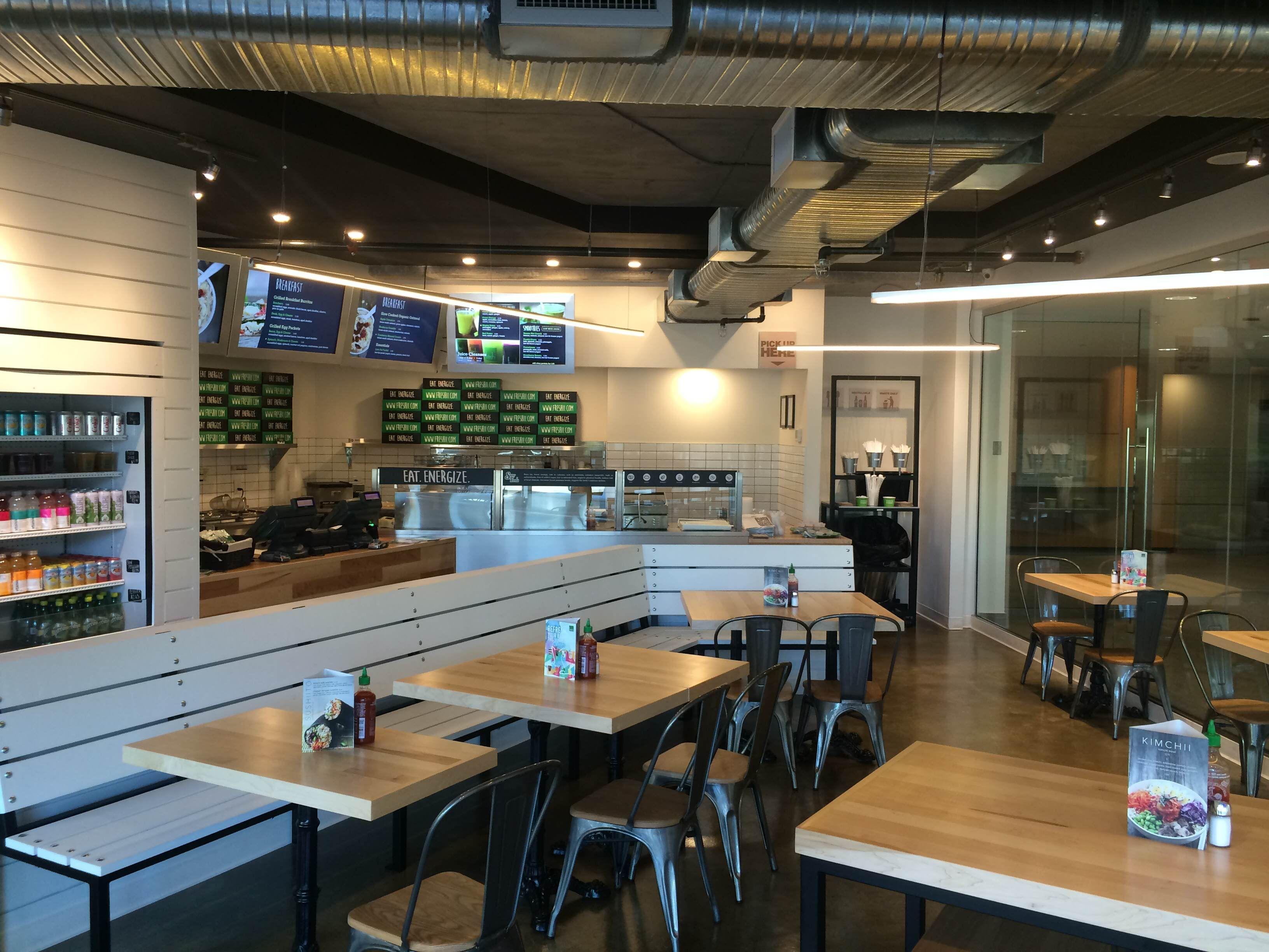 Freshii interior views restaurant store