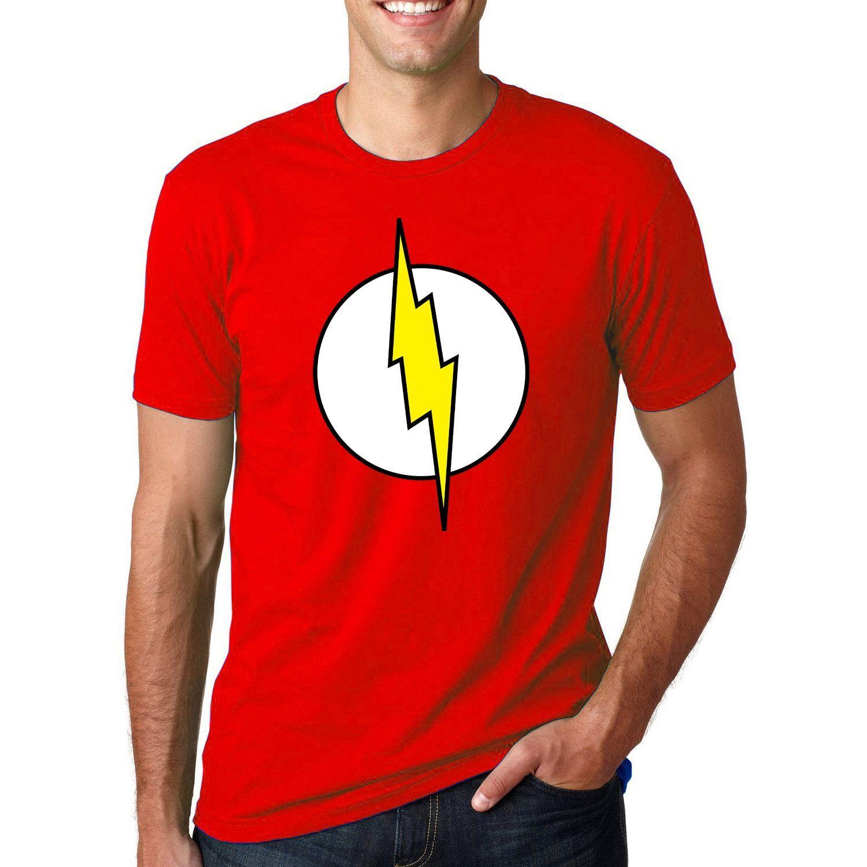 The Big Bang Theory Sheldon Cooper Flash Cosplay T-shirt 2016 Summer Men's Hip Hop Short Sleeve T shirts Casual Streetwear Tops