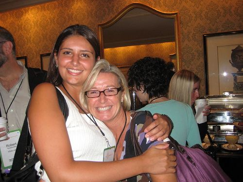 Nassim and Marybeth cozy up. by InternetGeekGirl, via Flickr