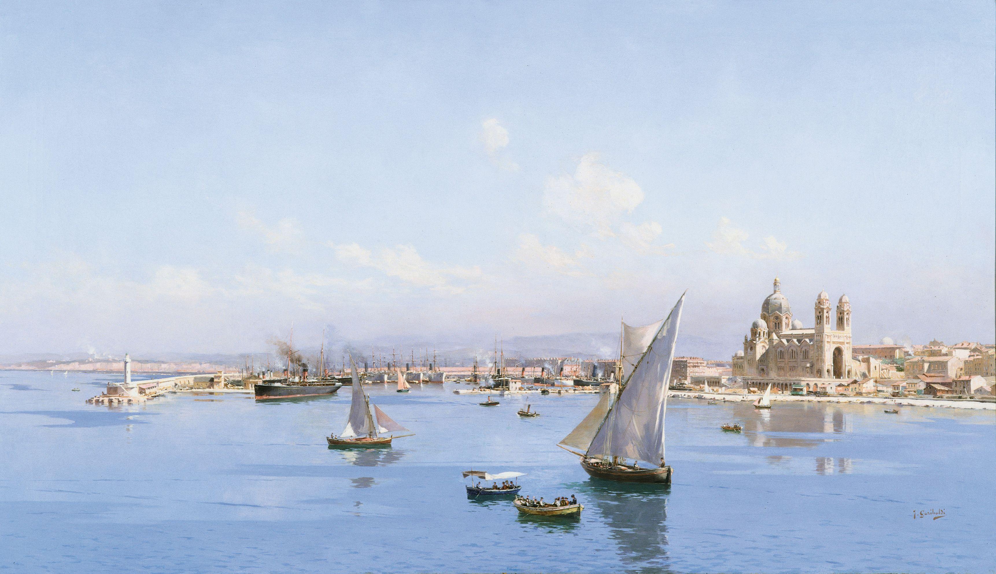Joseph garibaldi 1863 1941 le port de la joliette vu du - Artiste peintre marseille ...