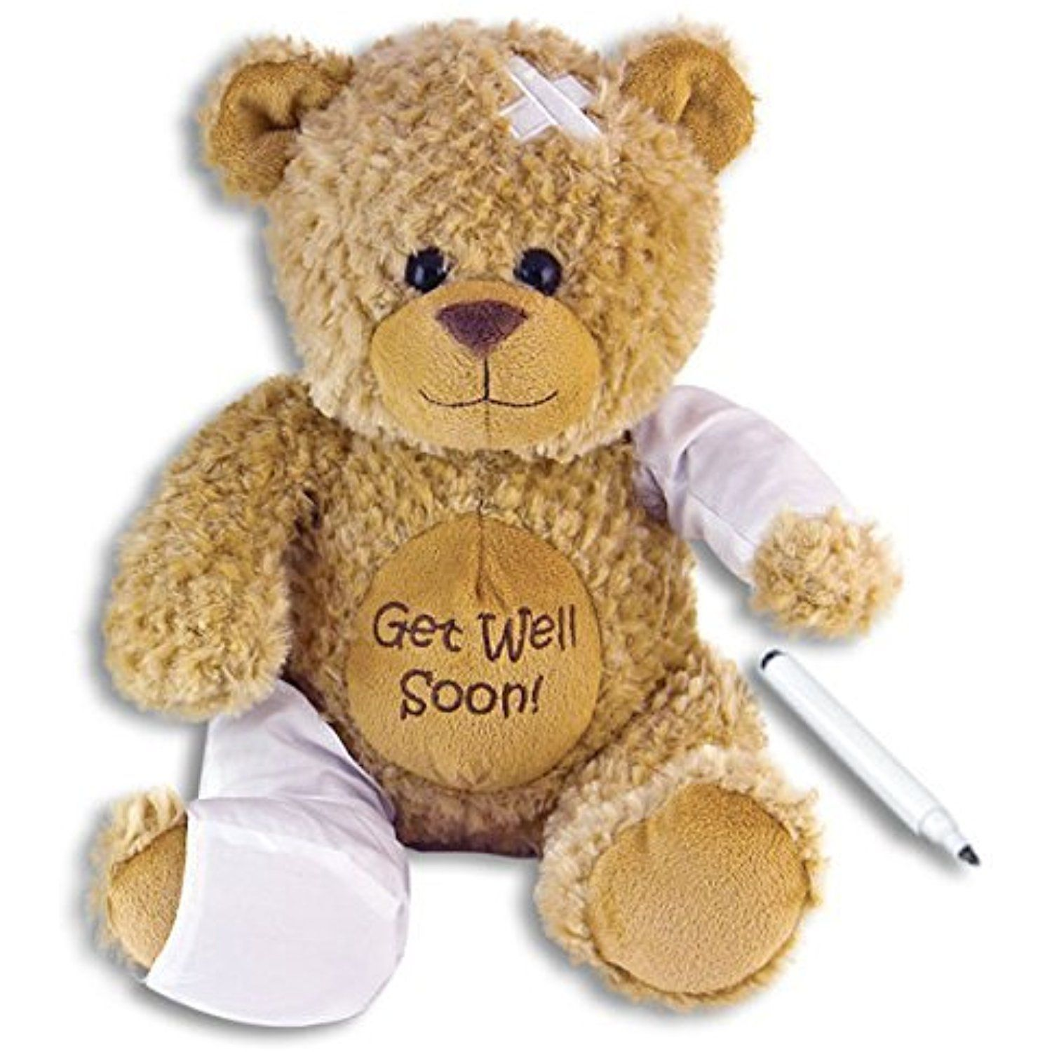 15 Plush Get Well Soon Teddy Bear W Cast For Autograph Speedy Recovery Gift For Hospitalized Ch Teddy Bear Stuffed Animal Get Well Gifts Kids Birthday Gifts