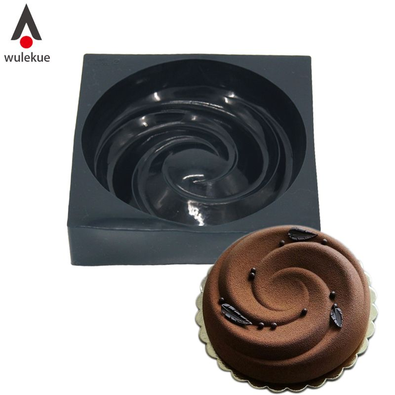 Aliexpress Com Buy Wulekue 3d Silicone Spiral Mold For Chocolate