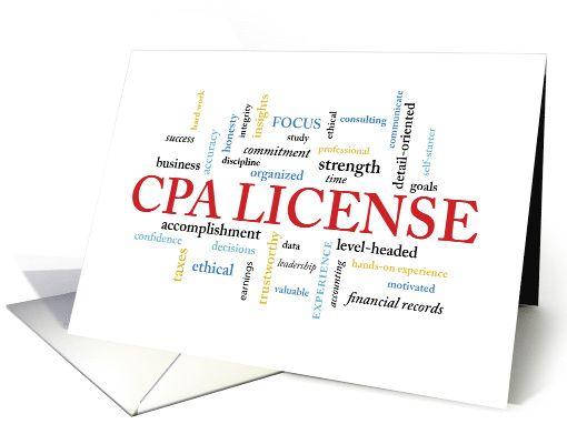 CPA License Congratulations in Words card Cheerleader
