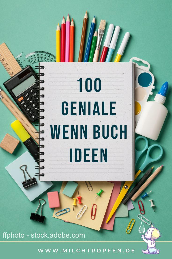 ᐅ Die Wenn Buch Liste mit 100 genialen Wenn Buch Ideen #bastelnadventkinder