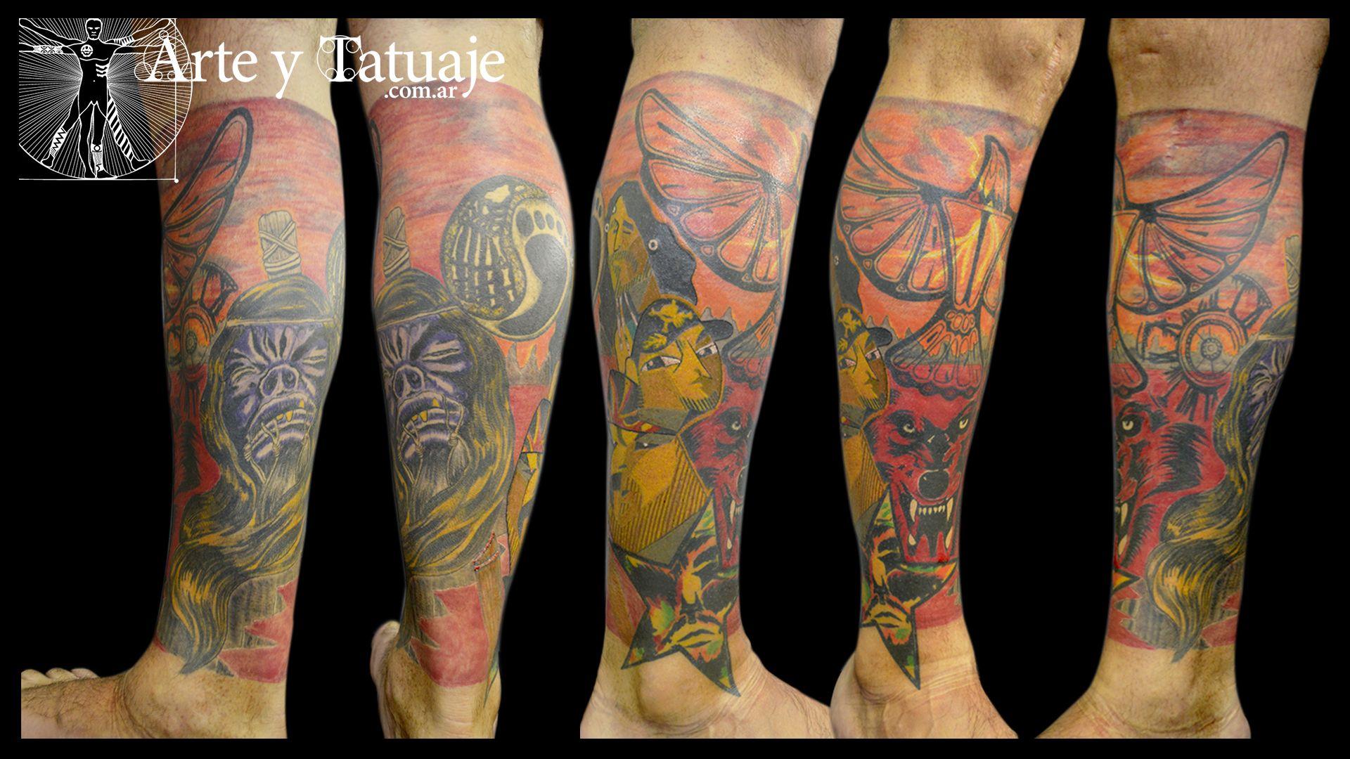 Tatuaje De La Renga Con Diseño Personalizado En El Estudio Nuestro