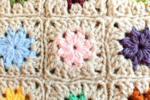 Cluster Burst Granny Square Pattern | cuadrados crochet | Pinterest ...