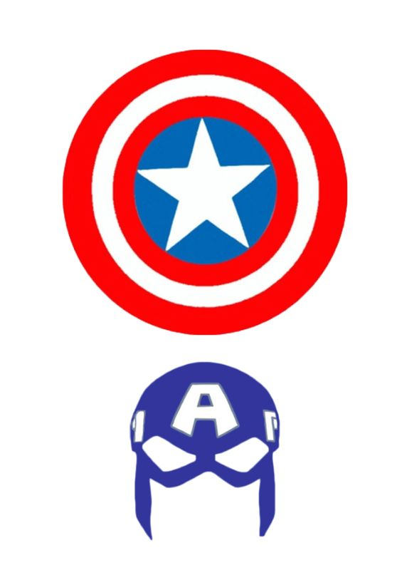 photo regarding Captain America Printable titled Elf upon the Shelf Captain The usa Mask: Free of charge Mask Baking