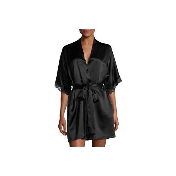 Christine Designs Bijoux Short Silk Robe (8 405 UAH) ❤ liked on ...