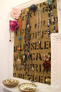 Jewelry Organizer Frame Cottage 38 North used an old window some