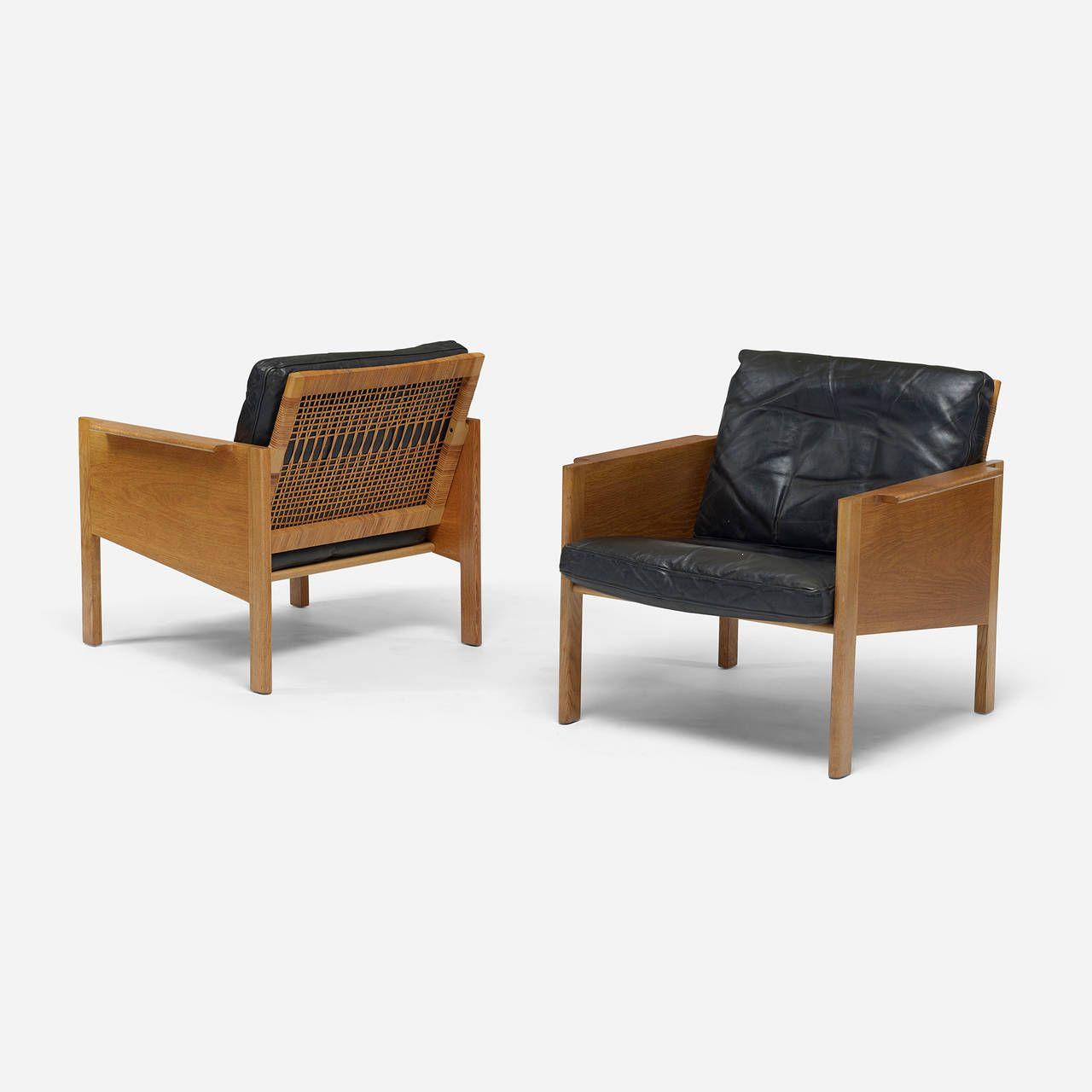 Pair of lounge chairs by kai kristiansen for christian jensen møbelsnedkeri