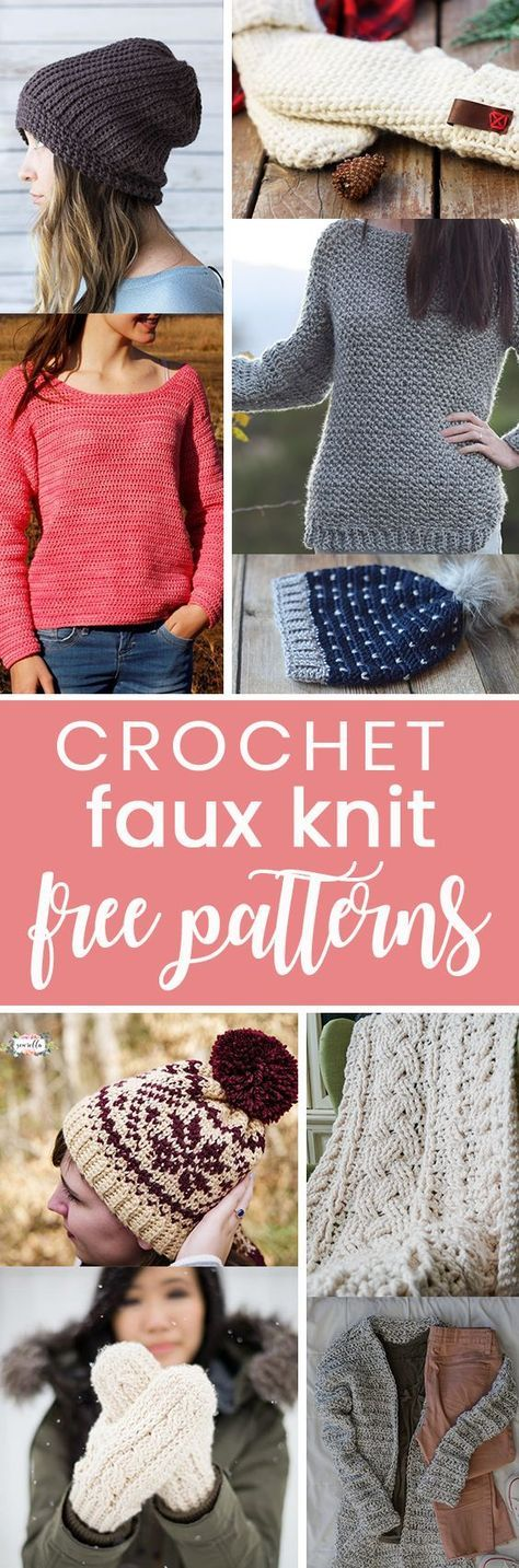 Free Crochet Patterns That Look Knit Knit Patterns Free Crochet