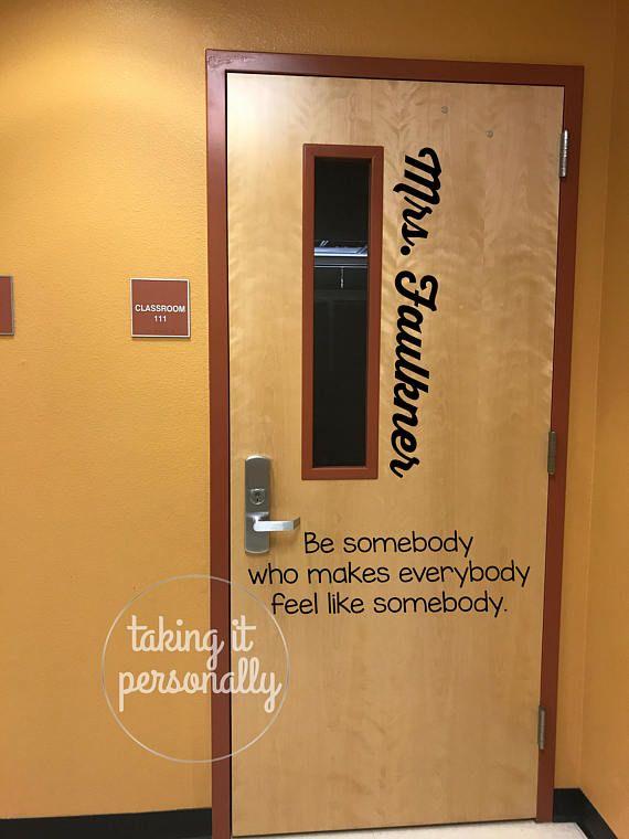 Classroom Door Name Vinyl & Classroom Door Teacher Name Vinyl | Classroom door Doors and Fonts