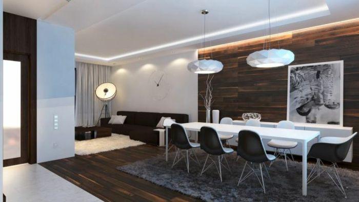 indirektes Licht led indirekte beleuchtung decke dunkeles interior - wohnzimmer offene decke