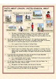 english worksheets facts about london the uk and gb inspiraci n docente english language. Black Bedroom Furniture Sets. Home Design Ideas