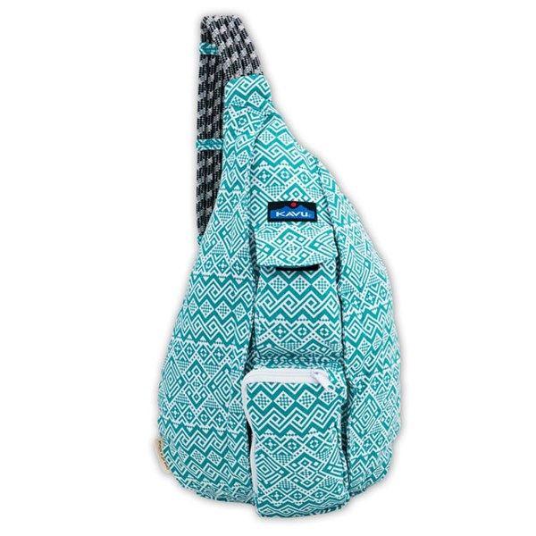 Kavu Women s Rope Bag Backpack Teal Quilt  e6d93e2a2