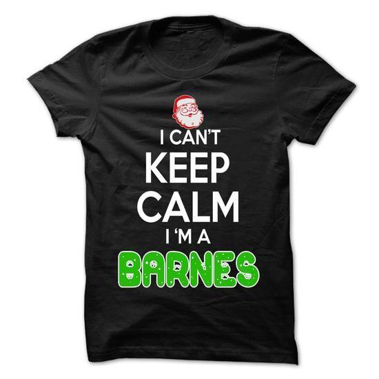 Keep Calm BARNES... Christmas Time - 0399 Cool Name Shirt ! T Shirts, Hoodies Sweatshirts