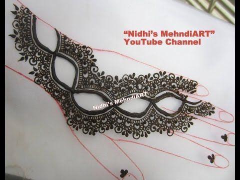 YouTube #easy #gulf #style #henna #mehndi #mehendi #mehandi #design #tutorial