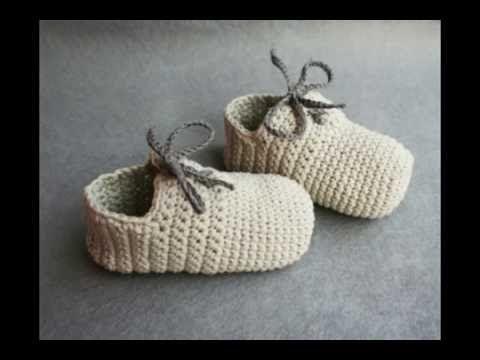 Zapatos de crochet de bebé. Patucos de ganchillo. Crochet baby ...