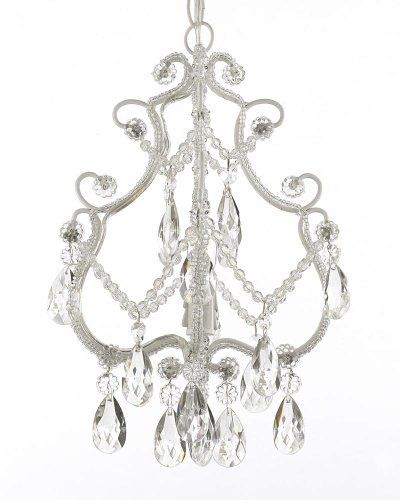 View the Gallery T40-441 Wrought Iron 1 Light 1 Tier Crystal Mini Chandelier with Clear Crystals at LightingDirect.com.