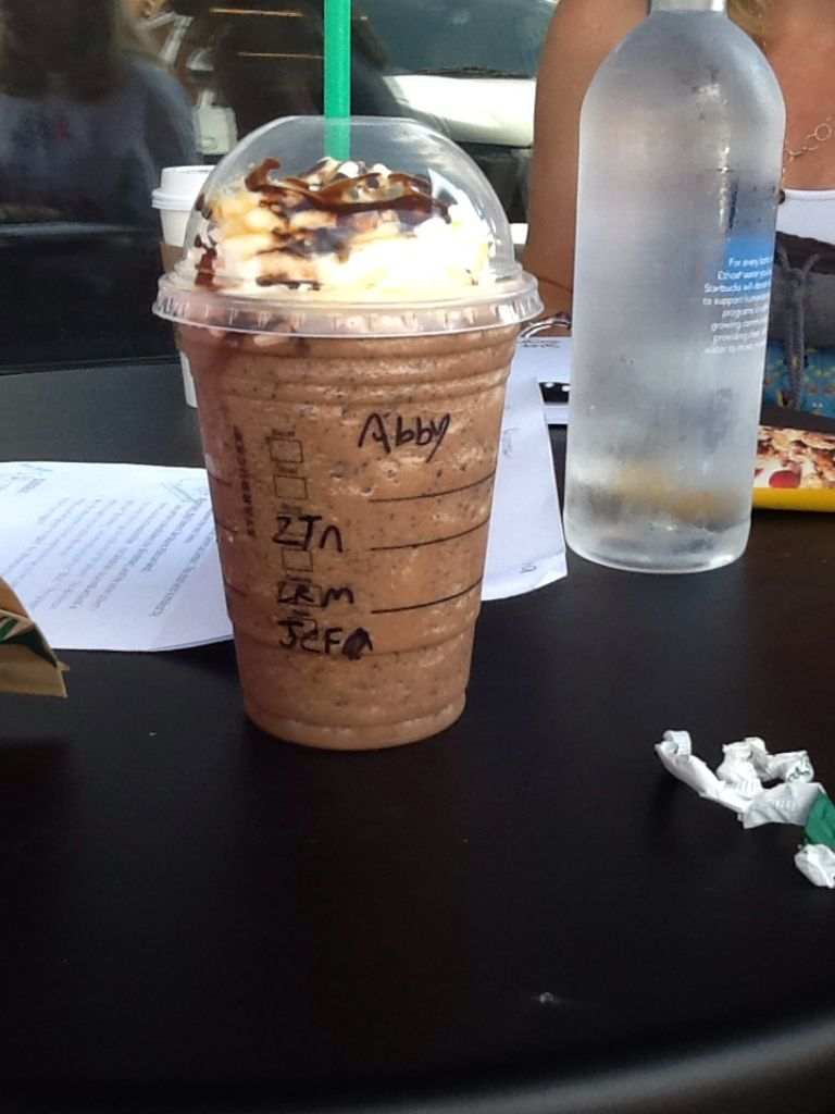 Went to Starbucks and got snickers frap. It is amazing!!!!