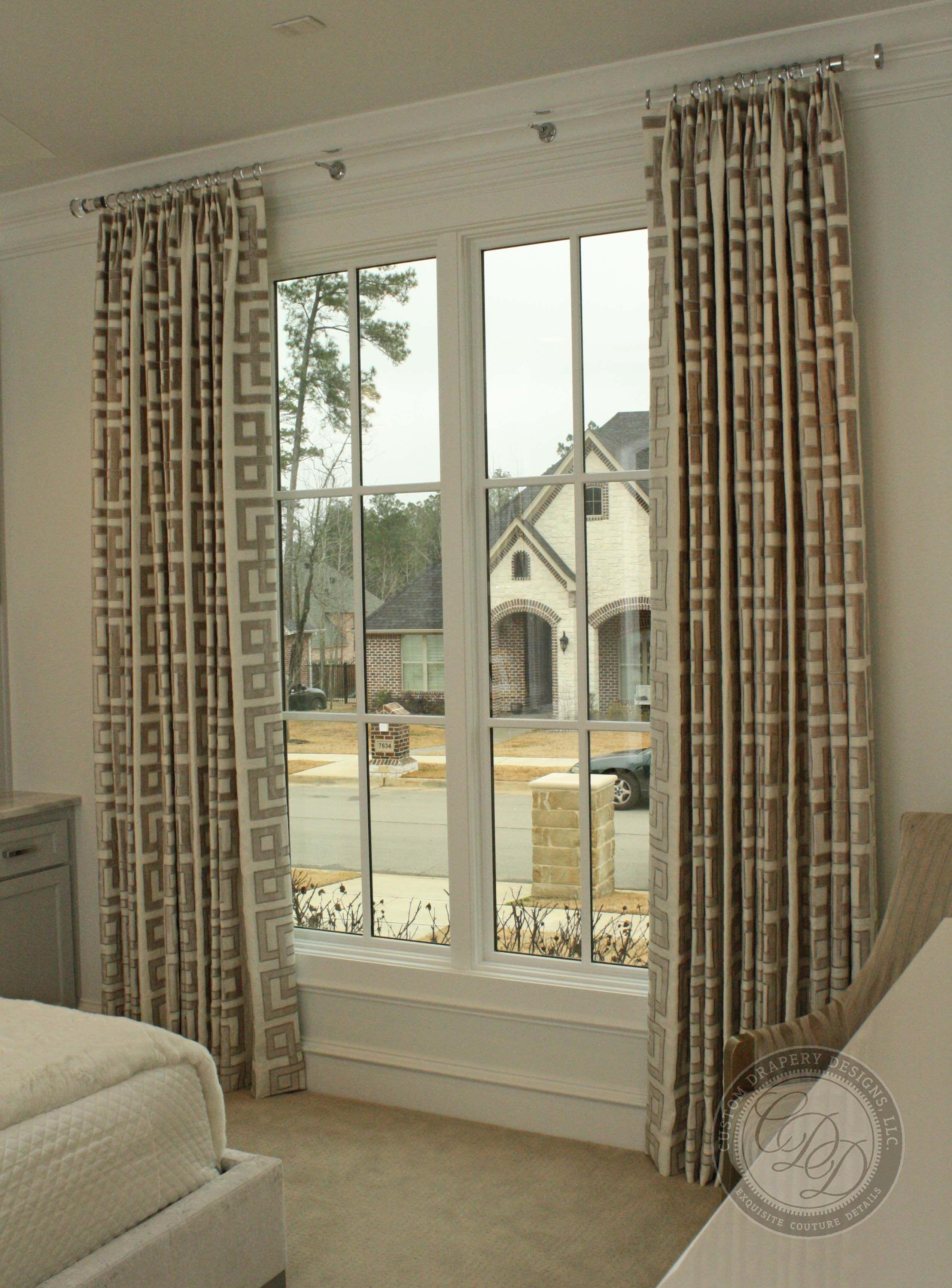 Custom Drapery Designs Llc Guest Bedroom Windows Dressed In A