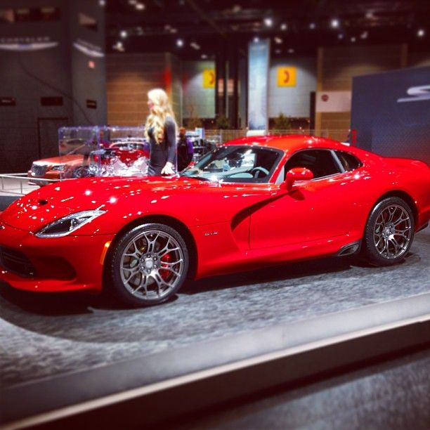 Side view of the new 2013 SRT Viper at the Chicago Auto Show. If you listen closely, you can almost hear the engine roaring...