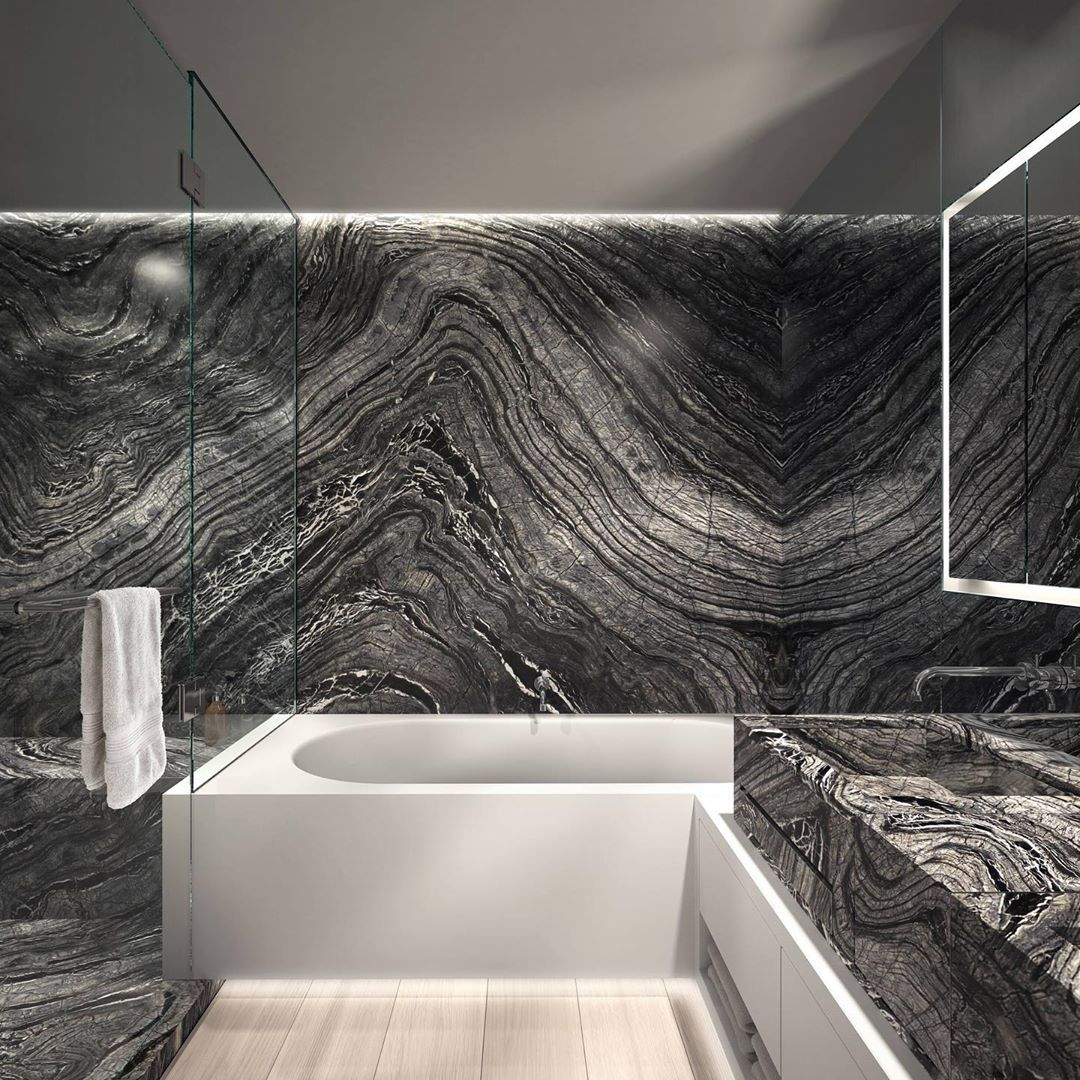 """Temmer on Instagram: """"Don't you want to upgrade your bathroom with Silver Wave marble? #marble #design #marbledesign #interiors #interiordesign #luxury…"""""""