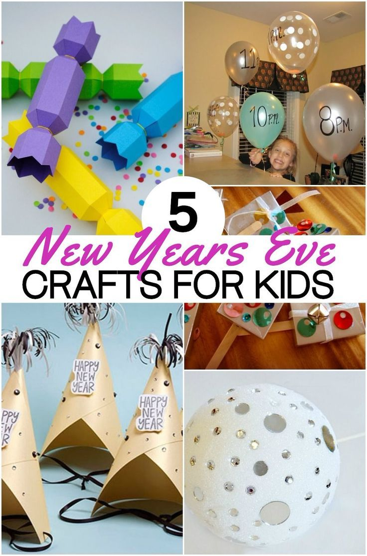 Wonderful New Years Craft Ideas For Kids Part - 11: 5 Fun New Years Eve Crafts For Kids To Ring In The New Year! | Kid Check  And Craft