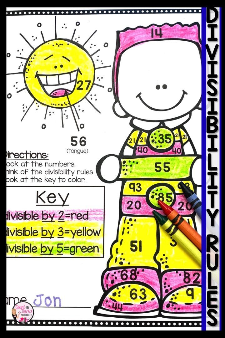 Divisibility Rules Worksheet Divisibility rules