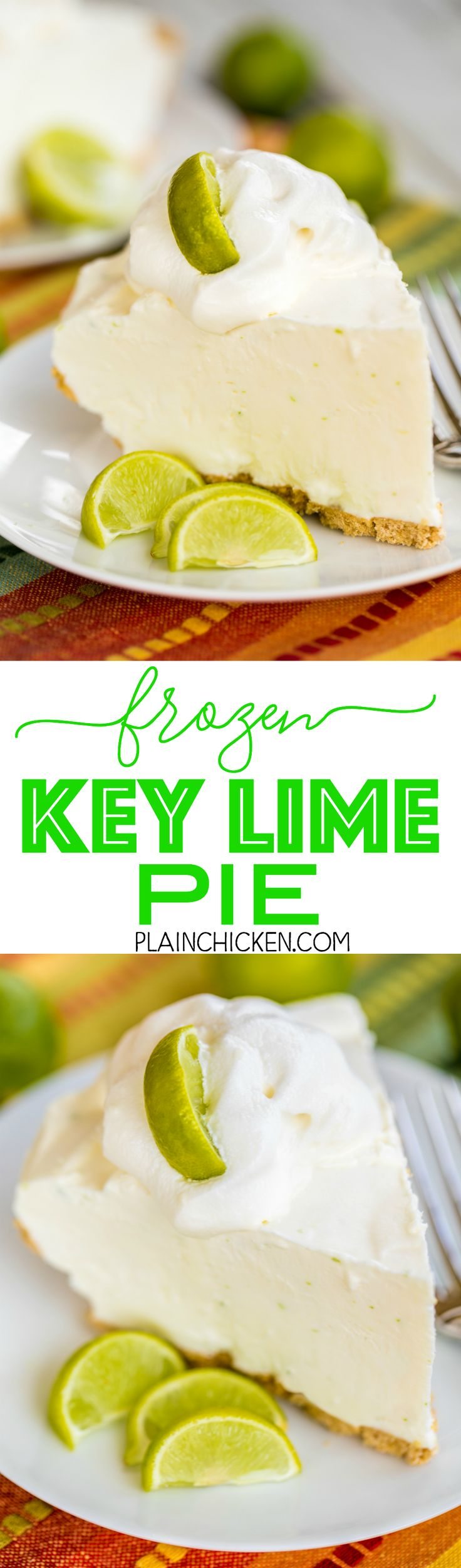 Check out Frozen Key Lime Pie. It's so easy to make ...