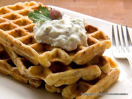 Photo of savory onion waffles