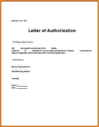authorization letter template loa notarized free word pdf - letter of authorization