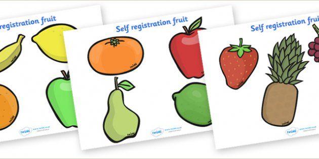 editable self registration labels fruit self registration