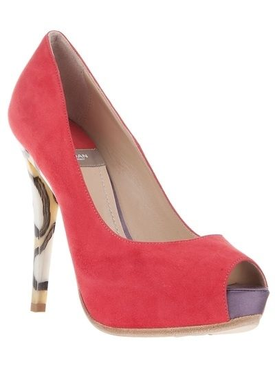 quite nice 344e8 6f953 Baldan Peep Toe Court Shoe - Milletrè - farfetch.com ...