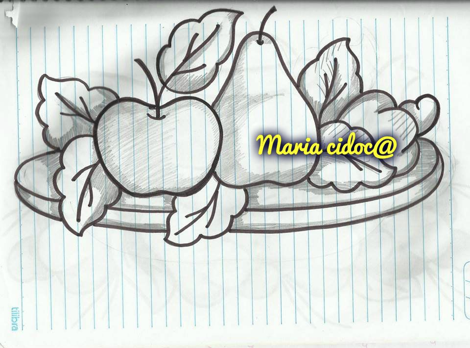 BANDEJA COM FRUTAS - Maria Cidoca   Dibujos   Pinterest   Moldes ...