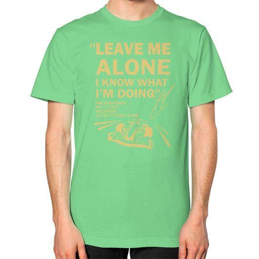 LEAVE ME ALONE ABU DHABI Unisex T-Shirt (on man)