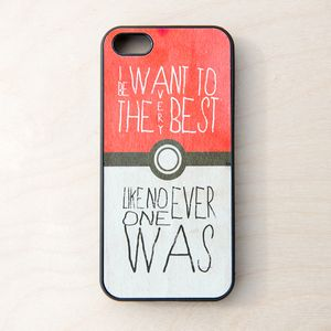 Pokemon Pokeball Quote Cellphone Case