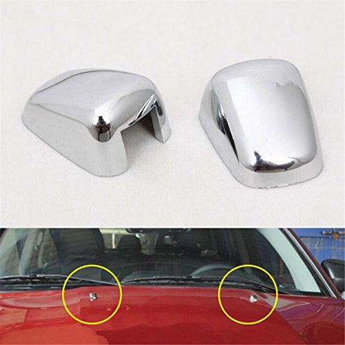 Fmtoppeak Silver 2pcs Front Windshield Washer Wiper Spray Nozzle Trim Cover For 2007 2016 Jeep Compass Patriot Grand Ch With Images Windshield Washer Windshield Silver Car